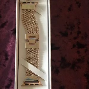 Smart Apple Watch band. Blingy rose gold tone